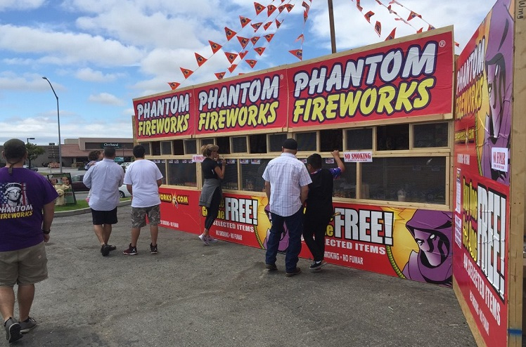 photo of a phantom fireworks stand