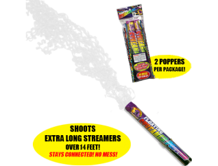 Floating Streamer White fireworks popper