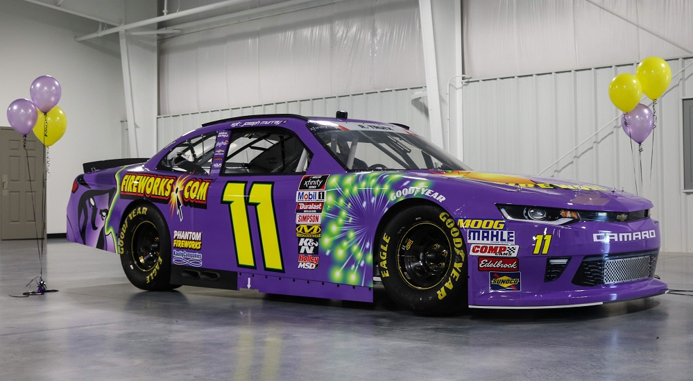 Phantom Fireworks purple race car