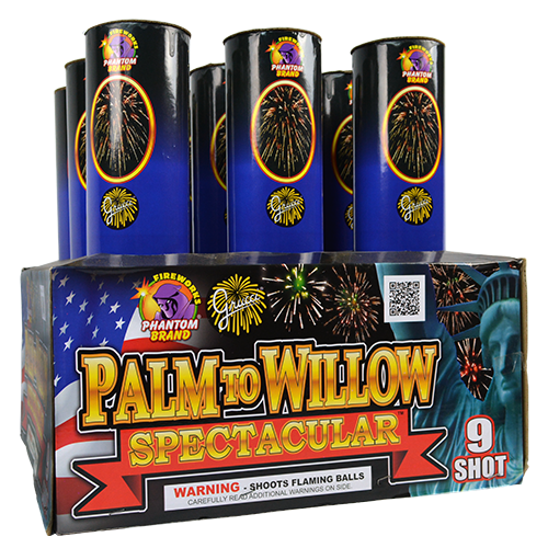 500 gram fireworks repeater palm to willow spectacular
