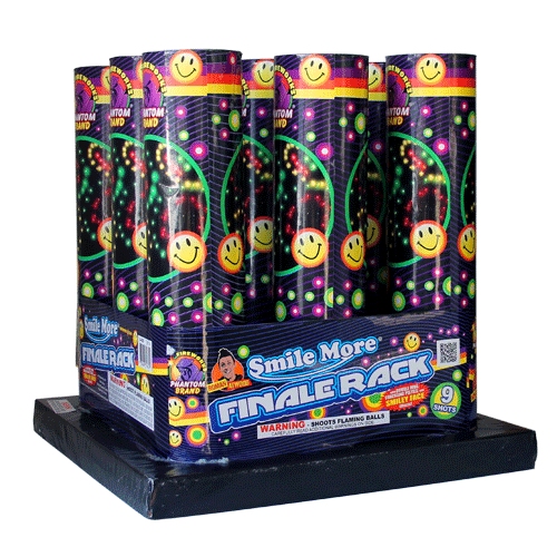 Smiley Face Rack finale fireworks racks