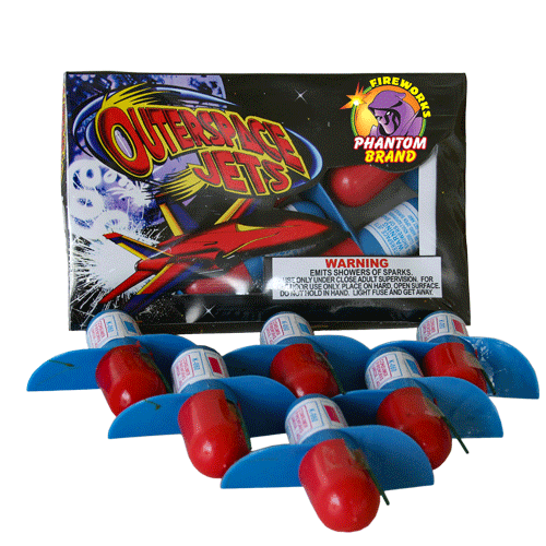Two Stage Outer Space Jet fireworks aerial spinners