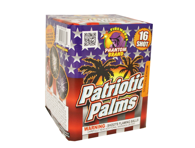 200 Gram Firework Repeater Patriotic Palms
