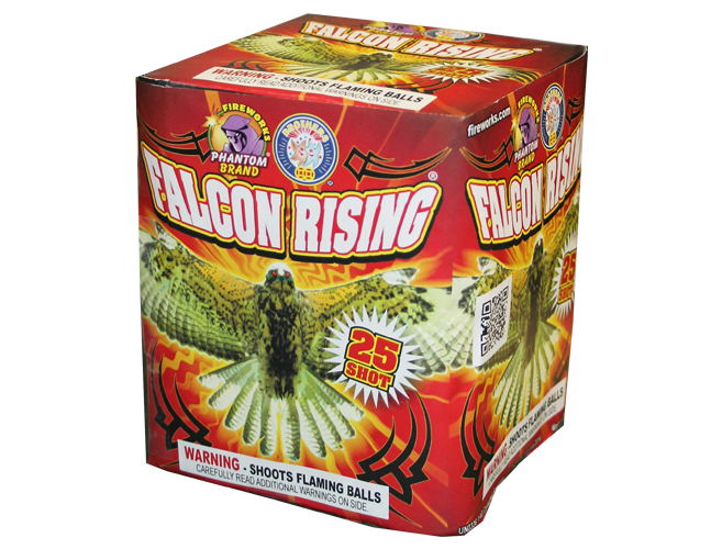 200 Gram Fireworks Repeater Falcons Rising