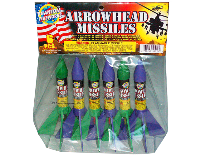 Bottle Rockets Arrowhead Missile Pack