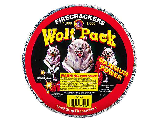 Firecrackers Wolf Pack 1000 Count Strip