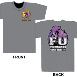 Fireworks University FU - Gray T-shirt (L)