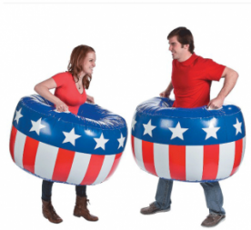 Inflatable Patriotic Body Boppers 2 pcs.(Online Only)