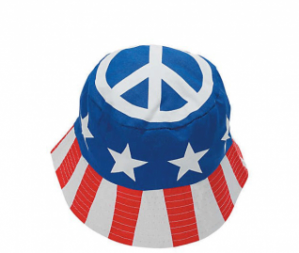 Patriotic Peace Sign Bucket Hat (Online Only)