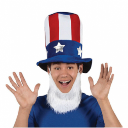 Uncle Sam Hat with Beard(Online Only)
