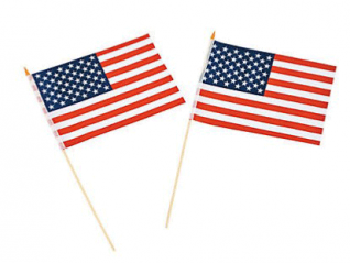 "Polyester USA Flag 7 1/2"" x 11 1/2"" 12 pcs. (Online Only)"