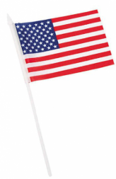 "Small American Flag (6""x4"" Polyester 12 pcs)"