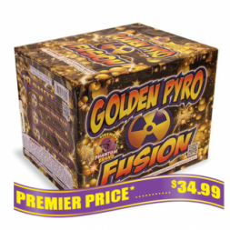 Golden Pyro Fusion 500 gram fireworks repeater