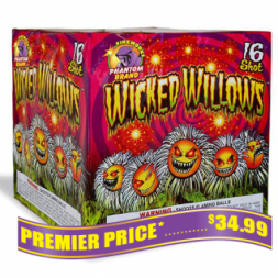 Wicked Willows 500 gram fireworks repeater