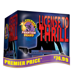 License to Thrill 500 gram fireworks repeater