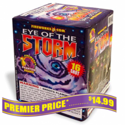 Eye of the Storm 200 gram fireworks repeater