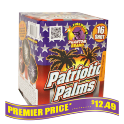 Patriotic Palms 200 gram fireworks repeater