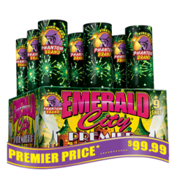 Emerald City Premier finale fireworks racks