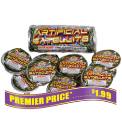 Artificial Satallite fireworks aerial spinners