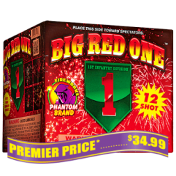 Big Red One 500 gram fireworks repeater