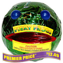 Fiery Frogs fireworks fountains
