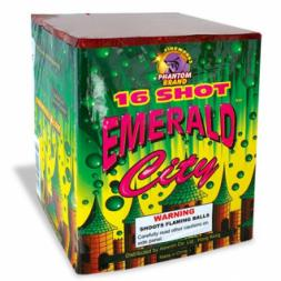 200 Gram Fireworks Repeater Emerald City