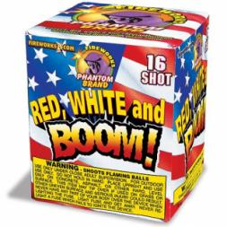 200 Gram Fireworks Repeater Red White and Boom