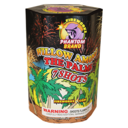 200 Gram Fireworks Repeater Willow Among Palms