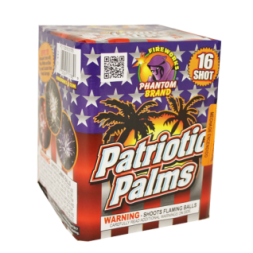 200 Gram Fireworks Repeater Patriotic Palms