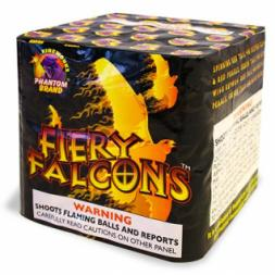 200 Gram Fireworks Repeater Fiery Falcons