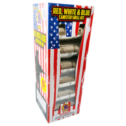 Reloadable Mortars Red White and Blue Canister Shell Kit