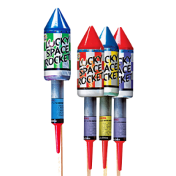 Bottle Rocket Lucky Space Rocket