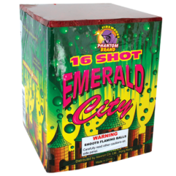 500 Gram Fireworks Repeater Emerald City