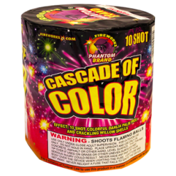 200 Gram Fireworks Repeater Cascade of Color