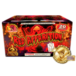 500 Gram Fireworks repeater red apparition 20 shots