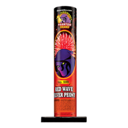 Red Wave Silver Peony fireworks tubes