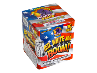 200 Gram Firework Repeater Red White and Boom
