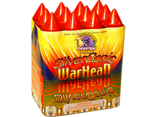 500 Gram Firework Repeater Silver Sonic Warhead