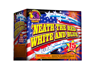200 Gram Firework Repeater Neath the Red White and Blue