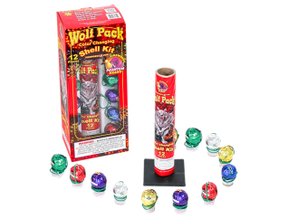 Reloadable Mortars Wolf Pack Color Changing Shell Kit 12 piece