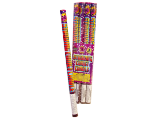 Roman Candles Strobing Comet Candle