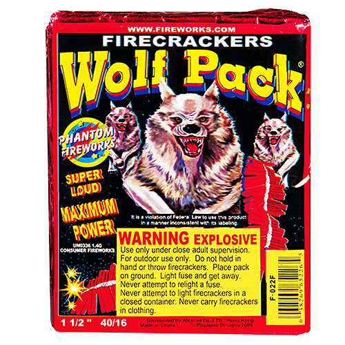 Wolf Pack Firecrackers - 40 packs of 16 crackers
