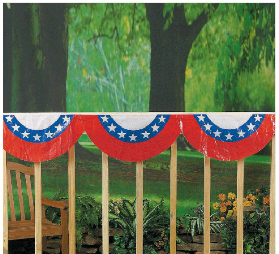 Plastic Patriotic Bunting 12 pieces (Online Only)