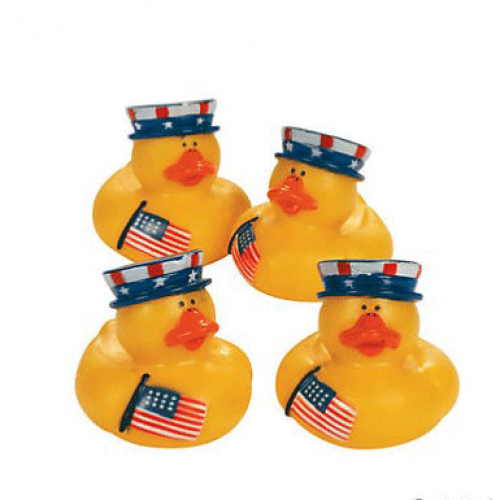 Patriotic Rubber Duckies 12 pcs. (Online Only)