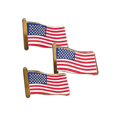 USA Flag Clutch Pins (24 pcs)(Online Only)