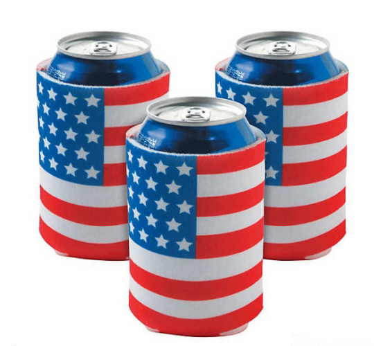 USA Flag Can Covers 12 pcs.(Online Only)