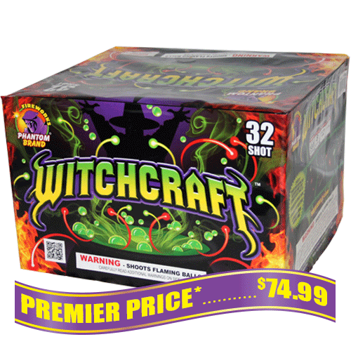 Witchcraft 500 gram fireworks repeater