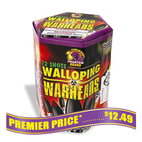 Walloping Warheads 200 grams fireworks repeater