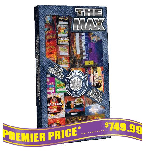 The Max fireworks assortment