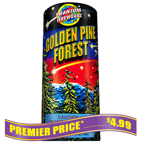 Golden Pine Forest Fountain